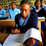 student preparing for WASSCE image