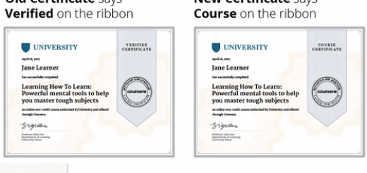 verified certificate vs course certificate on Coursera image