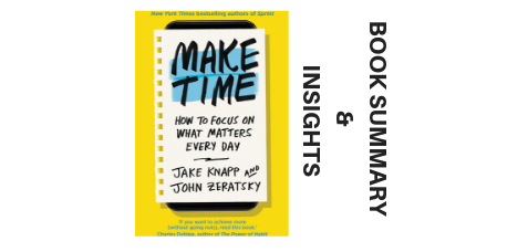 Make Time 2018 By Jake Knapp and John Zeratsky Book Summary and Insights images